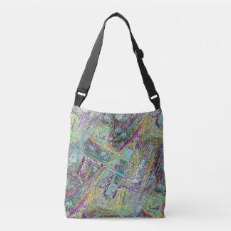 Rocket Abstract Pattern Crossbody Bag