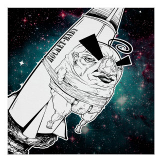 Rocket Baby print