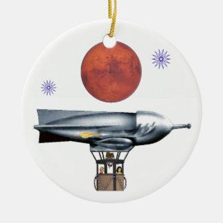 Rocket Balloon Ceramic Ornament