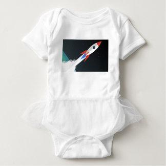 Rocket Blasting Off Baby Bodysuit