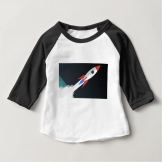 Rocket Blasting Off Baby T-Shirt