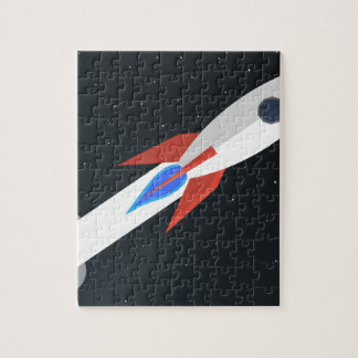 Rocket Blasting Off Jigsaw Puzzle