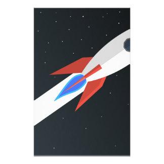 Rocket Blasting Off Stationery