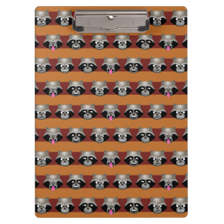 Rocket Emoji Stripe Pattern Clipboard