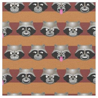 Rocket Emoji Stripe Pattern Fabric