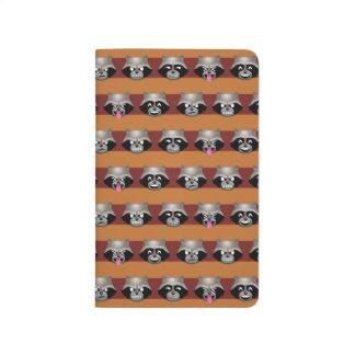 Rocket Emoji Stripe Pattern Journal