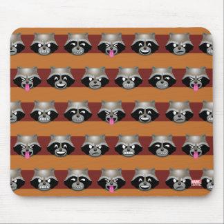 Rocket Emoji Stripe Pattern Mouse Pad