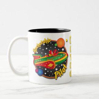 Rocket Express Rocket Ship Pilot Mug Design