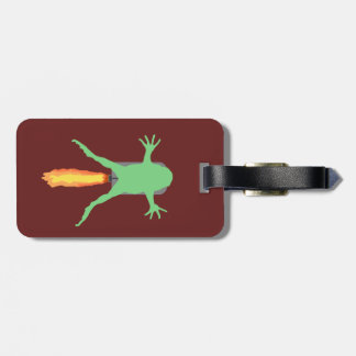 Rocket Frog Luggage Tag