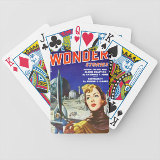 Rocket Girl Bicycle Playing Cards