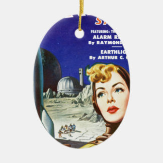 Rocket Girl Ceramic Ornament
