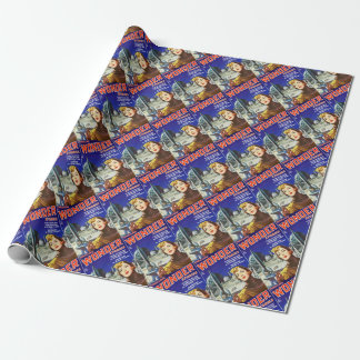 Rocket Girl Wrapping Paper