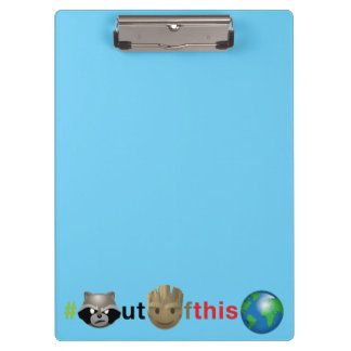 Rocket & Groot #outofthisworld Emoji Clipboard