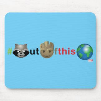 Rocket & Groot #outofthisworld Emoji Mouse Pad