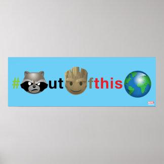 Rocket & Groot #outofthisworld Emoji Poster