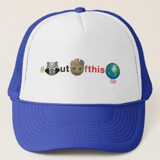 Rocket & Groot #outofthisworld Emoji Trucker Hat