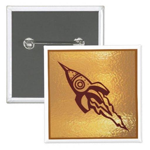 Rocket Jet SpaceJet - Medal Icon Gold Base Pins