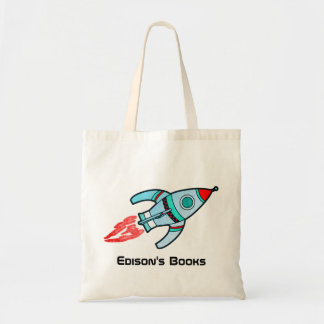 Rocket kids named id library tote bag