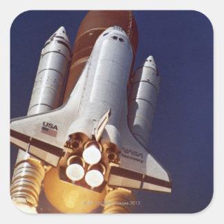 Rocket Launch Square Sticker