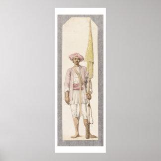 Rocket Man of Tipoo Sultan (1750-99), c.1793-4 (w/ Poster