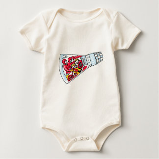 Rocket Man Retro Gemini Rockets in Space Baby Bodysuit