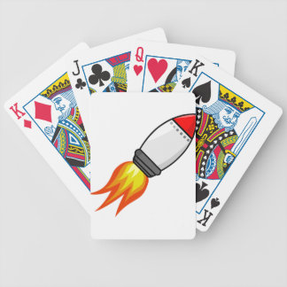 Rocket Missile Bicycle Playing Cards