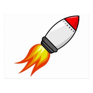 Rocket Missile Postcard