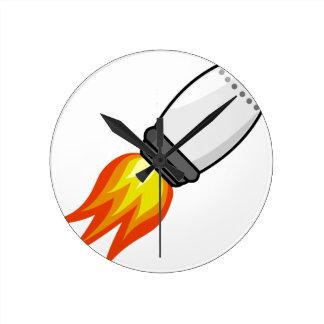 Rocket Missile Round Clock