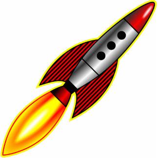 Rocket Photo Sculpture Badge