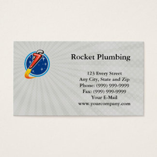 Rocket Plumbing Business card