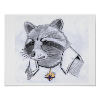 Rocket Raccoon Print