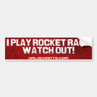 Rocket Race Bumper Sticker