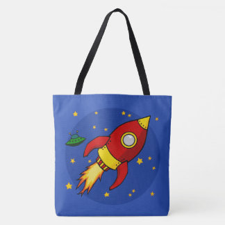 Rocket Red All-Over-Print Tote Bag