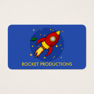 Rocket red Customizable Business Cards