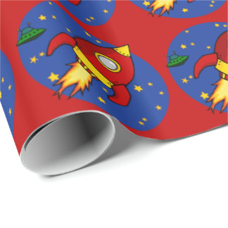 "Rocket red Glossy Wrapping Paper 30""x6'"