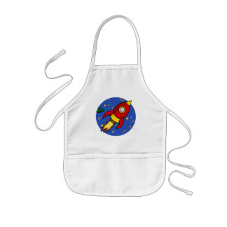 Rocket red yellow Apron