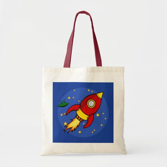 Rocket red yellow Bag