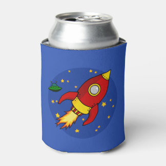 Rocket red yellow Can Cooler