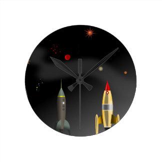 rocket round clock