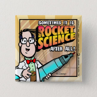 Rocket Science 15 Cm Square Badge