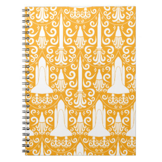 Rocket Science Damask Notebook