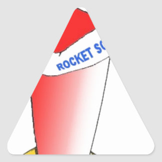 Rocket Science Triangle Sticker