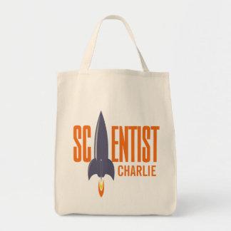 Rocket Scientist custom name tote bags