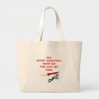 rocket scientist jumbo tote bag