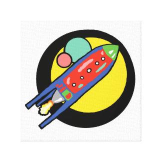 "Rocket Ship 12""x12"" Stretched Canvas Canvas Prints"