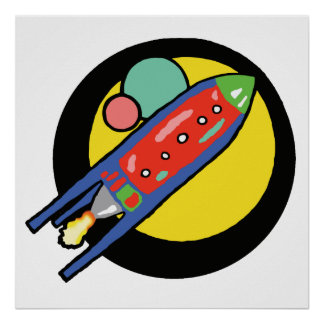 "Rocket Ship 24""x 24"" Value Poster Paper."