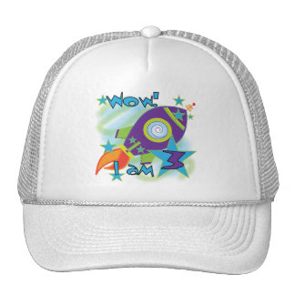 Rocket Ship 3rd Birthday T-shirts and Gifts Trucker Hat