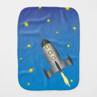 Rocket Ship Burp Cloth