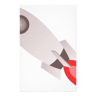 Rocket Ship Launching Stationery