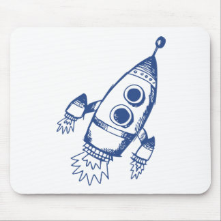 Rocket Ship Mouse Pad